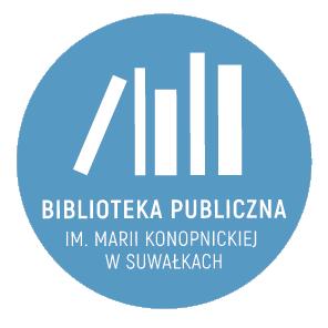 logo z tekstem koło niebieskie